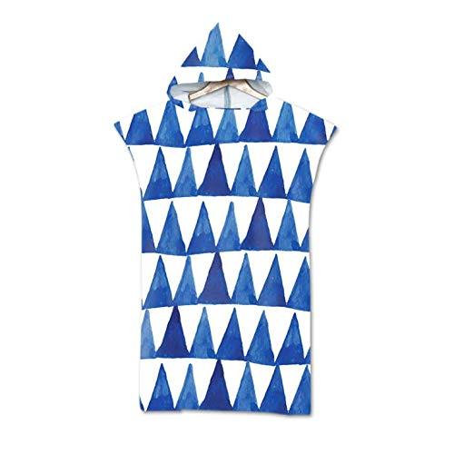 Toalla de Playa de Microfibra Impresa con Capucha, Bata, Capa, natación, Playa, Surf, Hombre, Mujer, Albornoz, Ropa de Playa