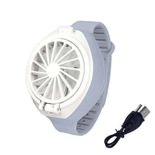 Mmnas USB aufladbare Lüfter mit komfortablen Handschlaufe tragbare Mini-Fan-Uhr-Shaped