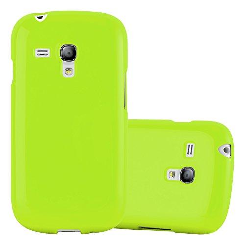 Cadorabo Custodia per Samsung Galaxy S3 Mini in Jelly Verde - Morbida Cover Protettiva Sottile di Silicone TPU con Bordo Protezione - Ultra Slim Case Antiurto Gel Back Bumper Guscio