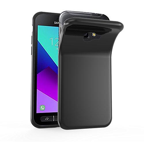 Cadorabo Hülle für Samsung Galaxy XCover 4 / XCover 4S in SCHWARZ - Handyhülle aus flexiblem TPU Silikon - Silikonhülle Schutzhülle Ultra Slim Soft Back Cover Case Bumper