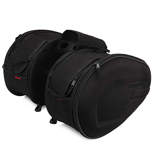 Motorcycle Saddlebags/Panniers Waterproof Travel Luggage Bags 36L-58L Expandable Capacity
