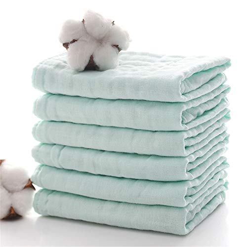 Baby Bath Washcloths by MUKIN - Muslin Face Towels for...