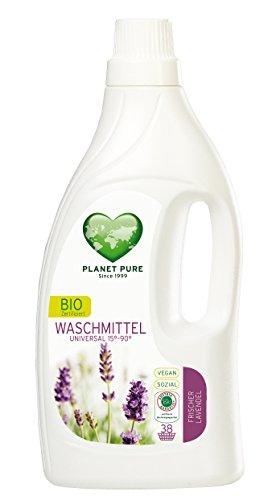 Planet Pure Bio Waschmittel Universal, Frischer Lavendel (1,55L), Vegan, 15° bis 90° Celsius