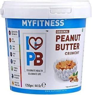 MYFITNESS Peanut Butter Crunchy 2.5kg (1.25kg X Pack of 2)