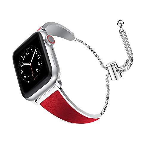 Supore Ersatzarmband Kompatibel Apple Watch Armband, 38 mm, 40mm iwatch Uhrenarmband Serie 4, 3, 2, 1, Edelstahl Metall Kleid Schmuck Armband Armreif