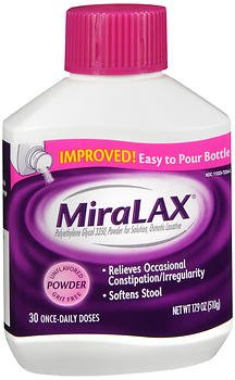 MiraLAX Powder Unflavored 17.9 oz, Pack of 5
