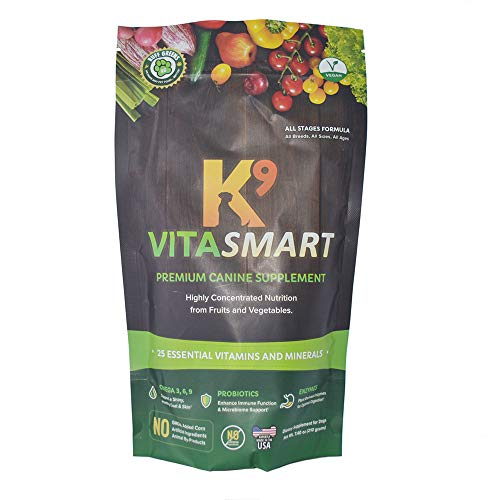 Ruff Greens K9 VitaSmart Vitamin & Mineral Supplement Nutritional Support for Dogs, 7.4 Ounce
