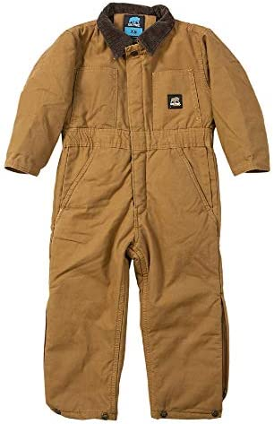 Berne Youth Insulated Softstone Bib Coverall Medium Regular Brown Duck product image