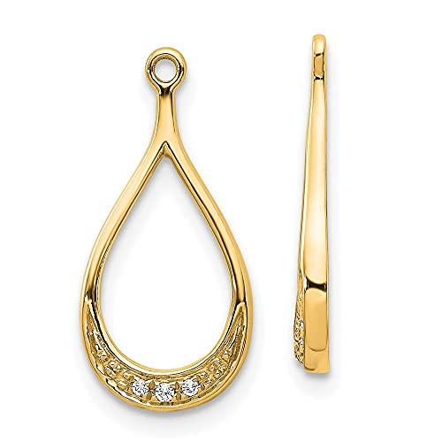 Pendientes de diamantes de oro amarillo de 14 quilates para mujer