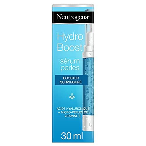 Neutrogena Hydro Boost Sérum Perles Booster Survitaminé, Soin Visage Hydratant à l'Acide Hyaluronique, 30ml