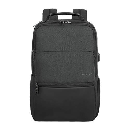 Laptop Rucksack, Fintie Tigernu Business Tagesrucksack mit USB-Anschluss und Kopfhöreranschluss, wasserabweisender Daypack für Arbeit, Reisen, Uni, Schule, Männer, Frauen für 17.3 Zoll Notebook