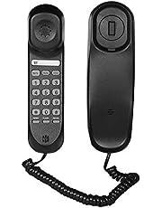 Tickas ミニデスクトップコード固定電話固定電話ウォールマウント対応ホームホテルオフィス銀行コールセンターのミュート/一時停止/保留/リセット/フラッシュ/リダイヤル機能