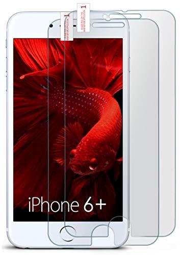 Preisvergleich Produktbild MoEx® Matte Panzerglasfolie aus 9H Echtglas passend für das iPhone 6S Plus / 6 Plus / Kratzfest,  Entspiegelnd + Reduziert Fingerabdrücke