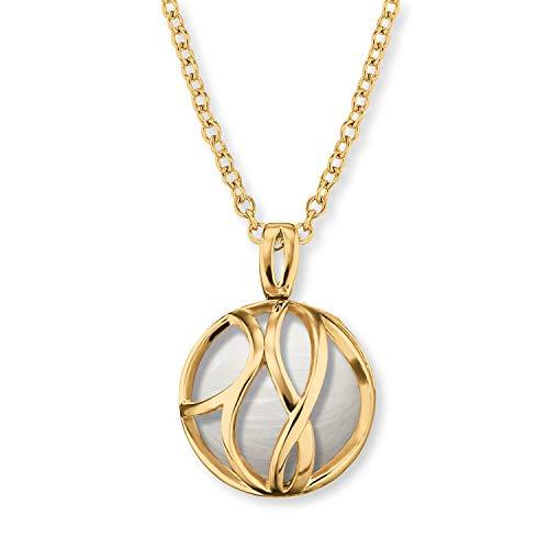 Engelsrufer - Damen Halskette Paradise aus 925 Sterlingsilber vergoldet mit Glasperlen Anhänger, Silber Kette mit Glasanhänger, echtsilber Damenkette mit Kettenanhänger