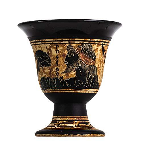 Pythagoras Tasse der Gerechtigkeit Pythagoras Fair Becher altgriechischer Gott Poseidon handbemalt Keramik nutzbar