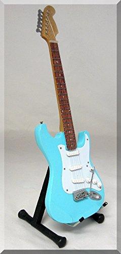 JOHN LENNON Miniatura Guitarra Fender Sonic Blue