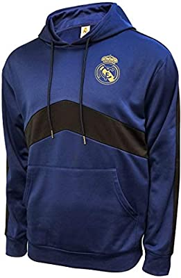 Icon Sports Mens Roof Pullover Hoodie UEFA Champions League Soccer Real Madrid, Team Color, Large
