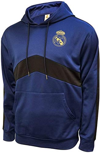 Icon Sports Mens Roof Pullover Hoodie UEFA Champions League Soccer Real Madrid, Team Color, X-Large