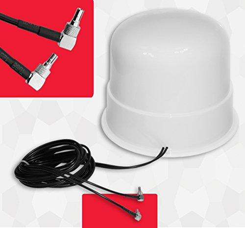Simplytech Theta Communication 30dBi Omni Directional 4G 3G LTE MIMO Antena Externa Amplificador de señal aérea para Huawei Router E5180 E5377 E3272 E3372 E3276 CRC9 Home Boat Caravan Motorhome
