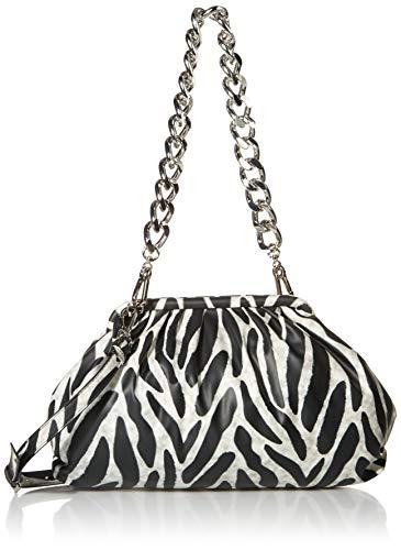 steve madden Shoulder Bag, Revive Clutch-Bolso Bandolera para Mujer, blanco/negro, Einheitsgröße