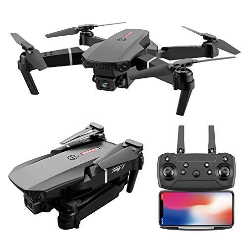 """Dawns drönare med 1080P HD-kamera, hopfällbar drönare med dubbla kameror för livevideo, vikbar flygande HD-quadcopter, drönare med lång batteritid för vuxna och barn, med höjdhållning och """"Tapfly""""-funktion"""