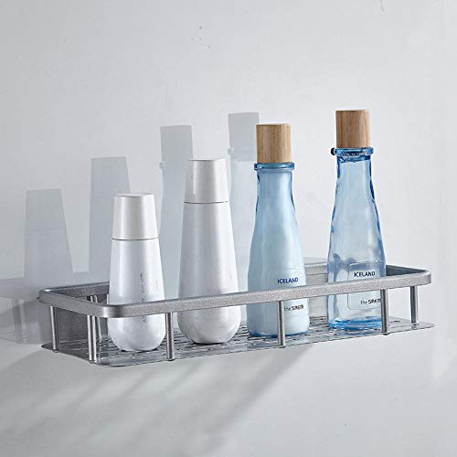 Grijze vierkant aluminium statief voor wandmontage douche, organizer, hoekplank, doucheplank badkamer doucheplank wandplank