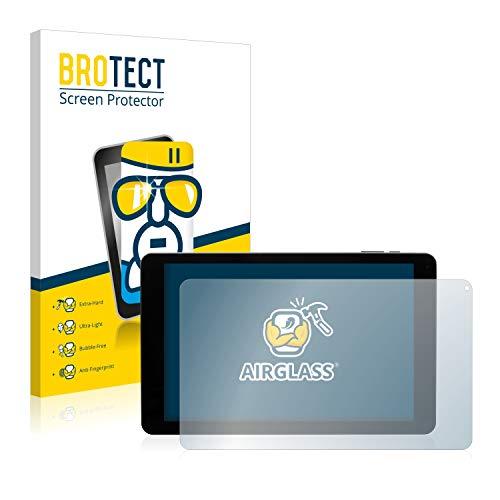 BROTECT Panzerglas Schutzfolie kompatibel mit Captiva Pad 10 3G Plus - AirGlass, 9H Festigkeit, Anti-Fingerprint, HD-Clear