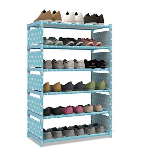 GUOCAO Zapatero de varias capas simple económico pequeño plegable zapatero a prueba de polvo gabinete para el hogar