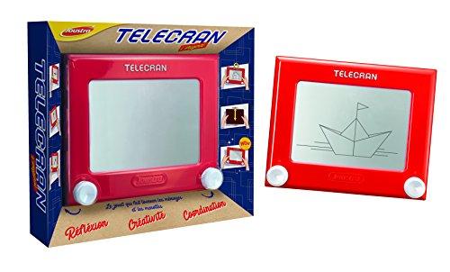 Joustra Ardoise Magique Telecran Original pour Dessiner à lInfini-Enfants dès 5 ans-Format 19X19 cm-Coloris Rouge, J41404, Multicolore