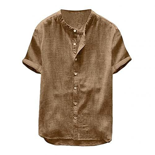 N\P Camiseta de manga corta de los hombres de color sólido camisa de manga corta
