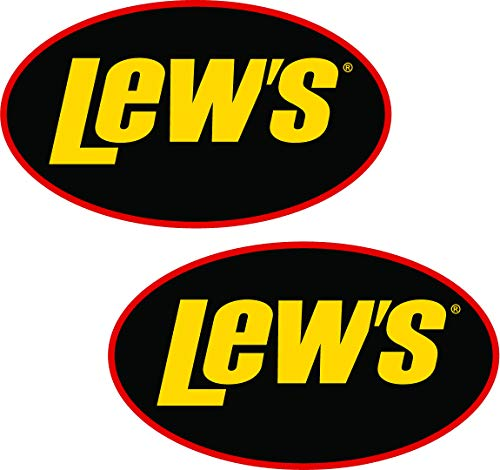 6' LEWS Decal Pair Quality Decal Sticker Tackle Box Fishing Boat Truck Trailer