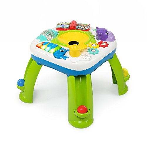 Bright Starts Having a Ball Get Rollin' Activity Table - Plays Over 60 Songs, 4 Languages, Including 6 Balls, a Ball ramp, a Piano, a Book and More