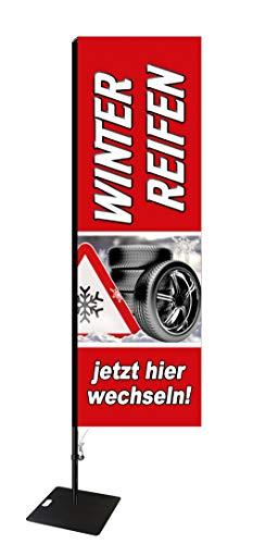 Beachflag Winterreifen -ca. 275 cm hoch- SEF595