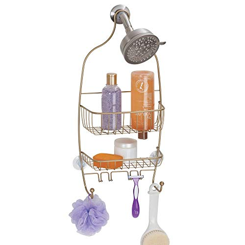 Why Choose InterDesign Raphael Bathroom Shower Caddy, Regular - Pearl Gold