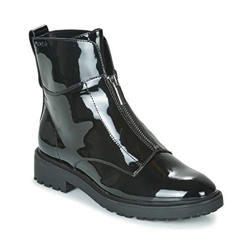 ESPRIT COCOS ZIP BOOTIE Enkellaarzen/Low boots dames Zwart/Lak Laarzen