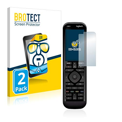 BROTECT Schutzfolie kompatibel mit Logitech Harmony 950 (2 Stück) klare Bildschirmschutz-Folie