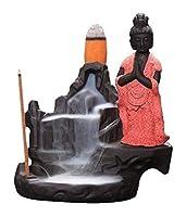 家庭用アロマディフューザー セラミック香香炉僧還流スティック創造的な家の装飾工芸品の山と川 (Color : D)