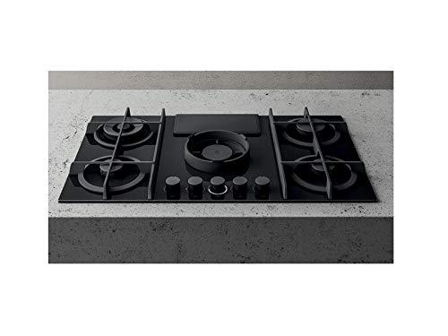 Elica piano a gas aspirante NIKOLATESLA FLAME PRF0147741-Nero-Filtrante