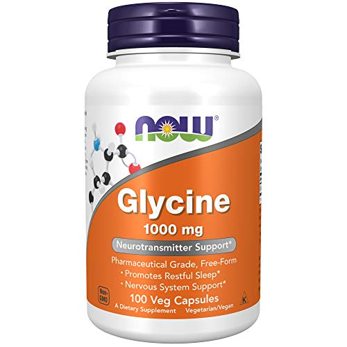 Now Foods Glycine 1000mg, Capsules, 100-Count