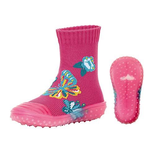 Sterntaler Adventure-Socks, Schmetterling-Motiv, Rosa (Magenta 745), 23/24