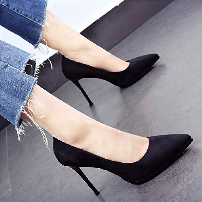 HOESCZS Elegante Damenschuhe Damenschuhe 2019 Frühjahr Neue Spitze Stiletto Super High Heels flachen Mund Wilde einzelne Schuhe schwarz  hoher Rabatt