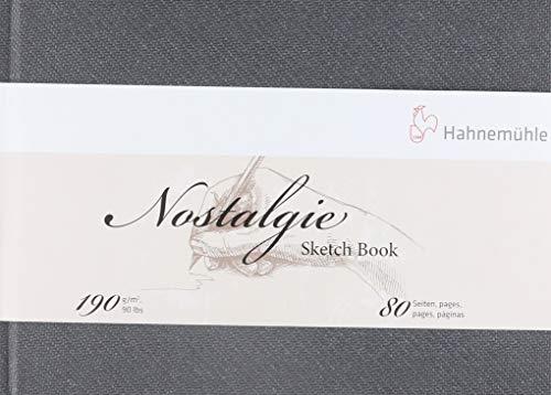 Hahnemuehle 10628693 Nostalgisches Skizzenbuch, A5 quer, 190 g/m², weiß