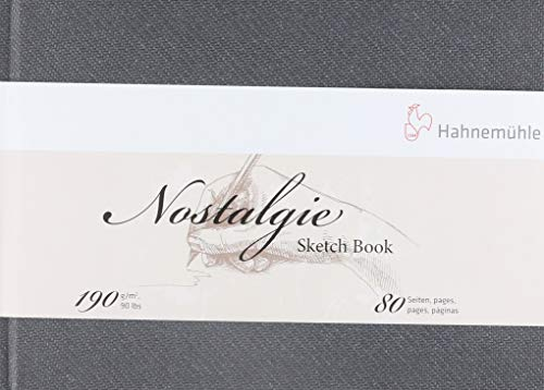 Hahnemuhle Nostalgie Sketch Book Landscape A5 (5.8X8.3 inches) 190gsm 40 sheets/80 Pages