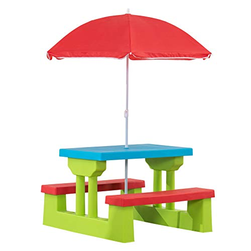 AmazonBasics Plastic Multicolored Kids Outdoor Table