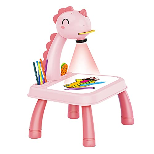 Children LED Projector Art Drawing Table Toys with Light & Music Child Smart...