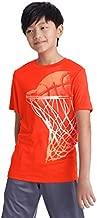 C9 Champion Boys' Tech Short Sleeve Tshirt, Spicy Orange Heather, M