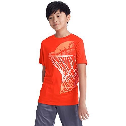 C9 Champion Boys' Tech Short Sleeve Tshirt, Spicy Orange Heather, L