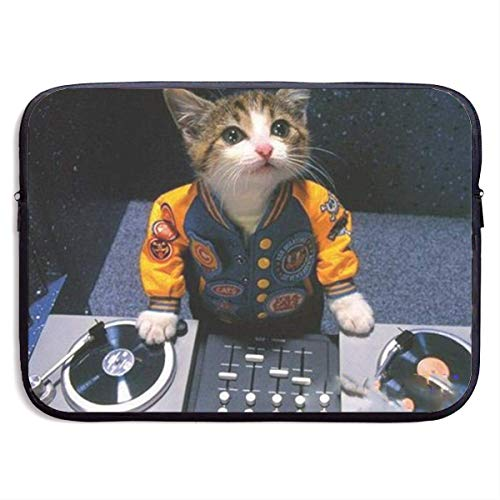 Laptop Sleeve Case DJ Kitten Notebook Bag Laptop Shoulder Bag Protective 15 Inch