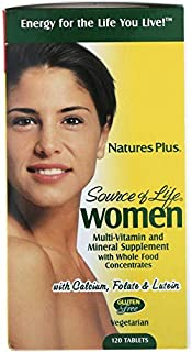 Nature's Plus, Source of Life, Women, Multi-Vitamin and Mineral Supplement with Whole Food Concentrates, 120 Tablets