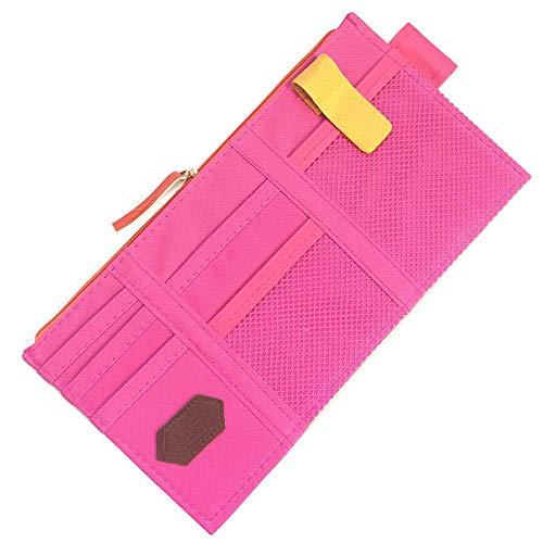 Coche Visera recibe el bolso del cargador del coche bolsa caja de almacenaje Use herramientas del teléfono del bolso del organizador for gafas de sol de entradas de combustible de tarjetas móvil